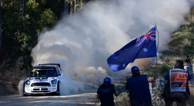 Sebastien Ogier made an impressive start at Coates Hire Rally Australia