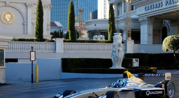 Formula E car performs maiden public demonstration run in Las Vegas