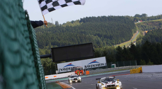 After back-to-back BMW victories: Four BMW M6 GT3s in action at the 2017 24 Hours of Spa-Francorchamps