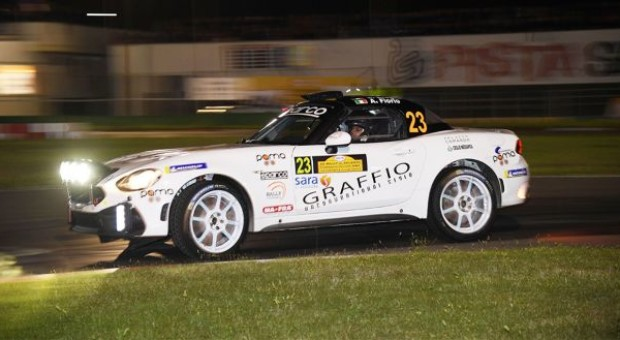 Alex Fiorio, a positive come back to the races with the Abarth 124 rally: 6th in the Salento Rally