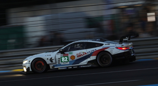 Number 82 BMW M8 GTE to start the Le Mans 24-hour race from fifth place