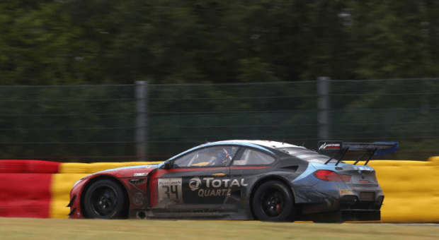 BMW M6 GT3 reaches 11th place after chasing performance in Spa-Francorchamps